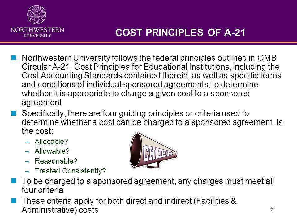 COST PRINCIPLES OF A-21