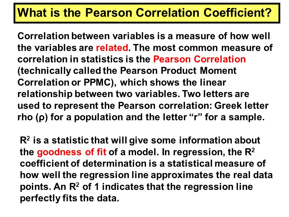 What is the Pearson Correlation Coefficient