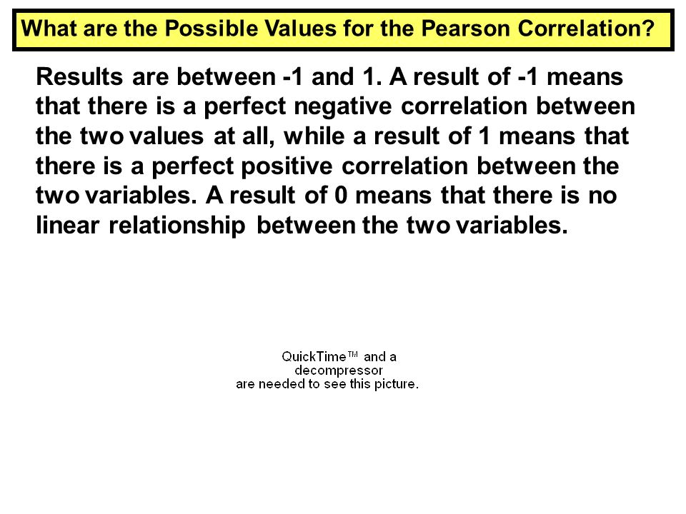 What are the Possible Values for the Pearson Correlation