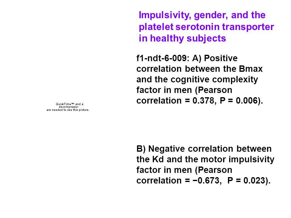 Impulsivity, gender, and the platelet serotonin transporter in healthy subjects