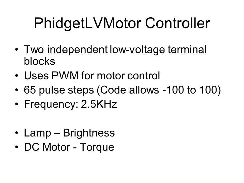 PhidgetLVMotor Controller