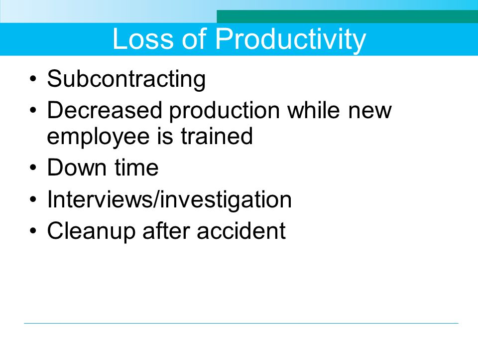 Loss of Productivity Subcontracting