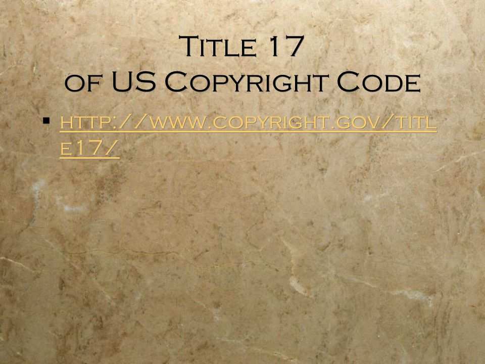 Title 17 of US Copyright Code