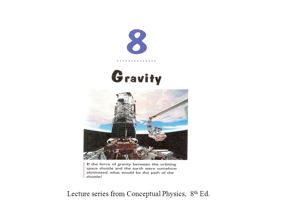 Lecture series from Conceptual Physics, 8th Ed.