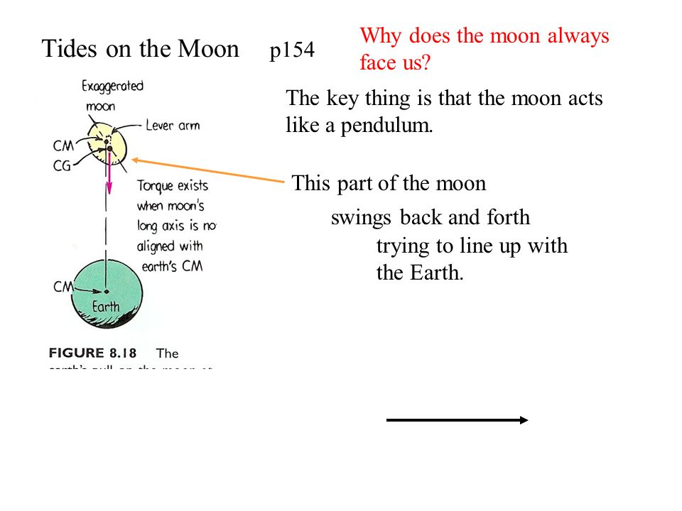 Tides on the Moon p154 Why does the moon always face us