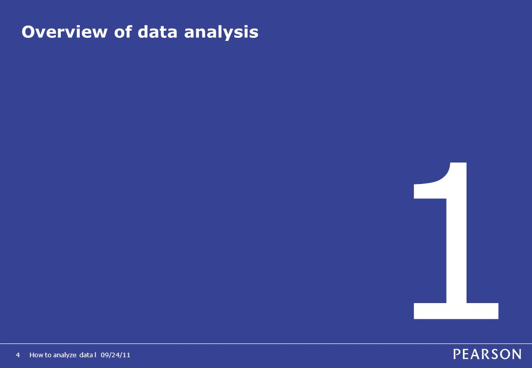 Overview of data analysis