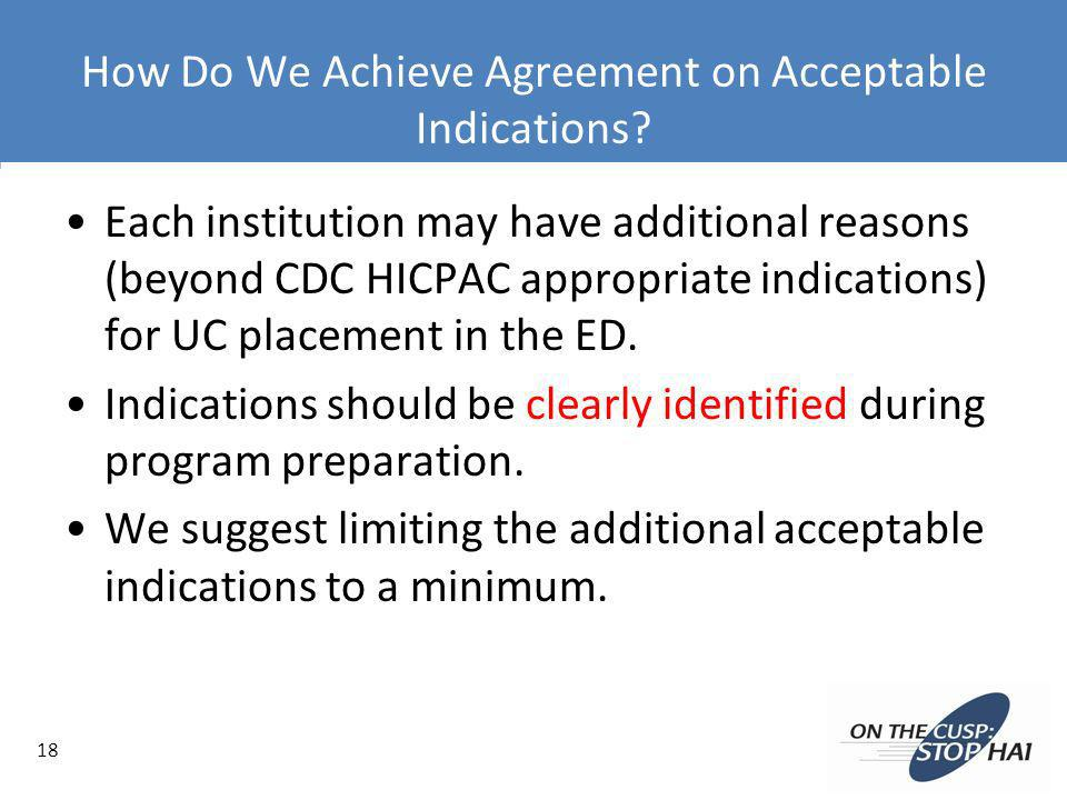 How Do We Achieve Agreement on Acceptable Indications