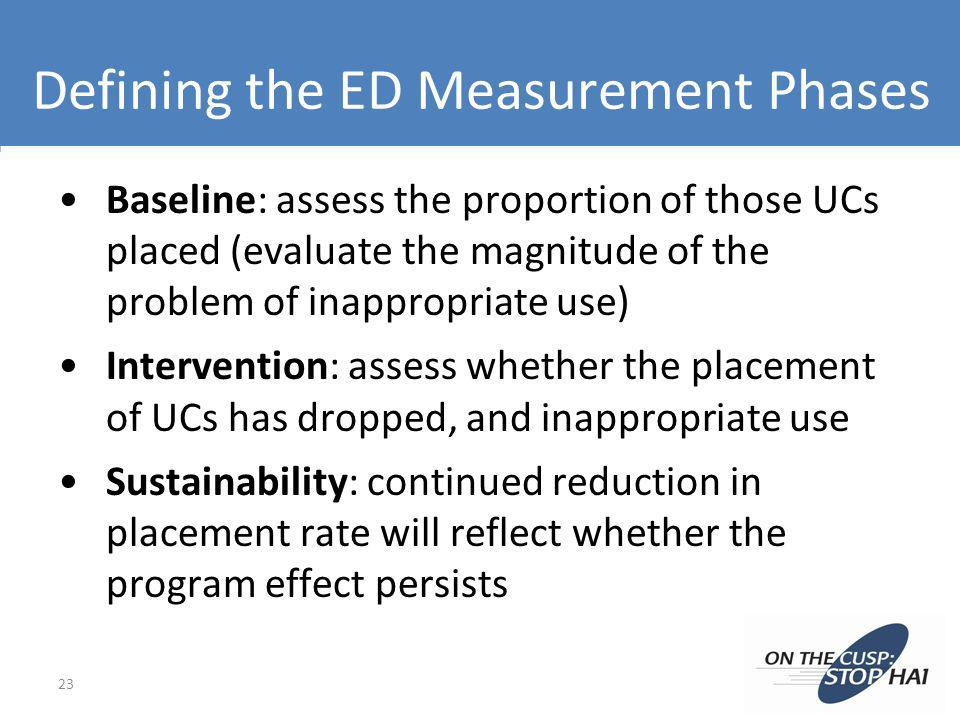 Defining the ED Measurement Phases