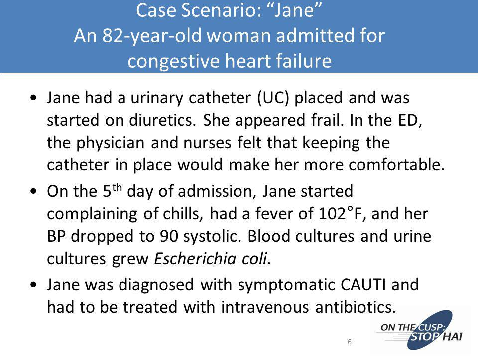 Case Scenario: Jane An 82-year-old woman admitted for congestive heart failure