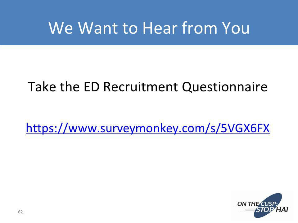 Take the ED Recruitment Questionnaire