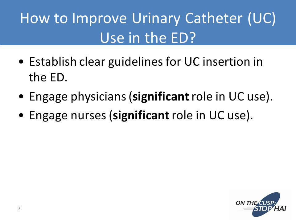 How to Improve Urinary Catheter (UC) Use in the ED