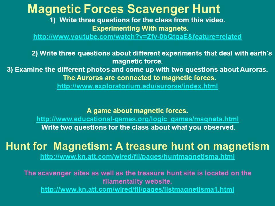 Magnetic Forces Scavenger Hunt