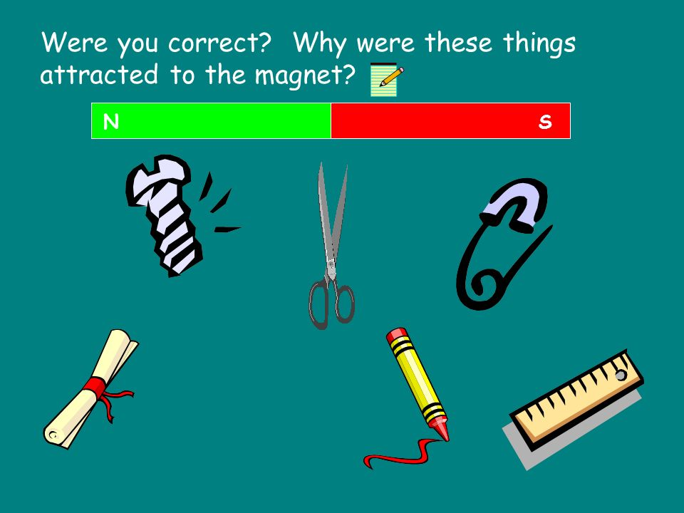 Were you correct Why were these things attracted to the magnet