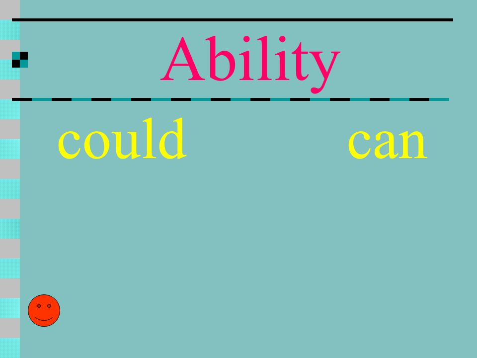 Ability could can