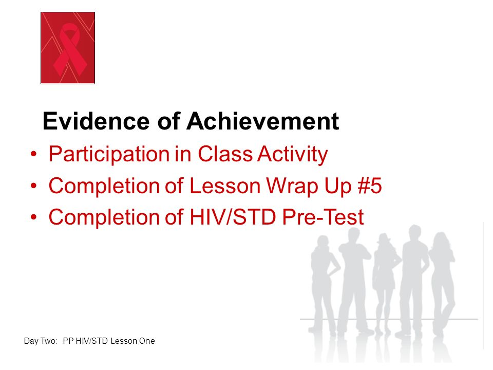 Evidence of Achievement Participation in Class Activity