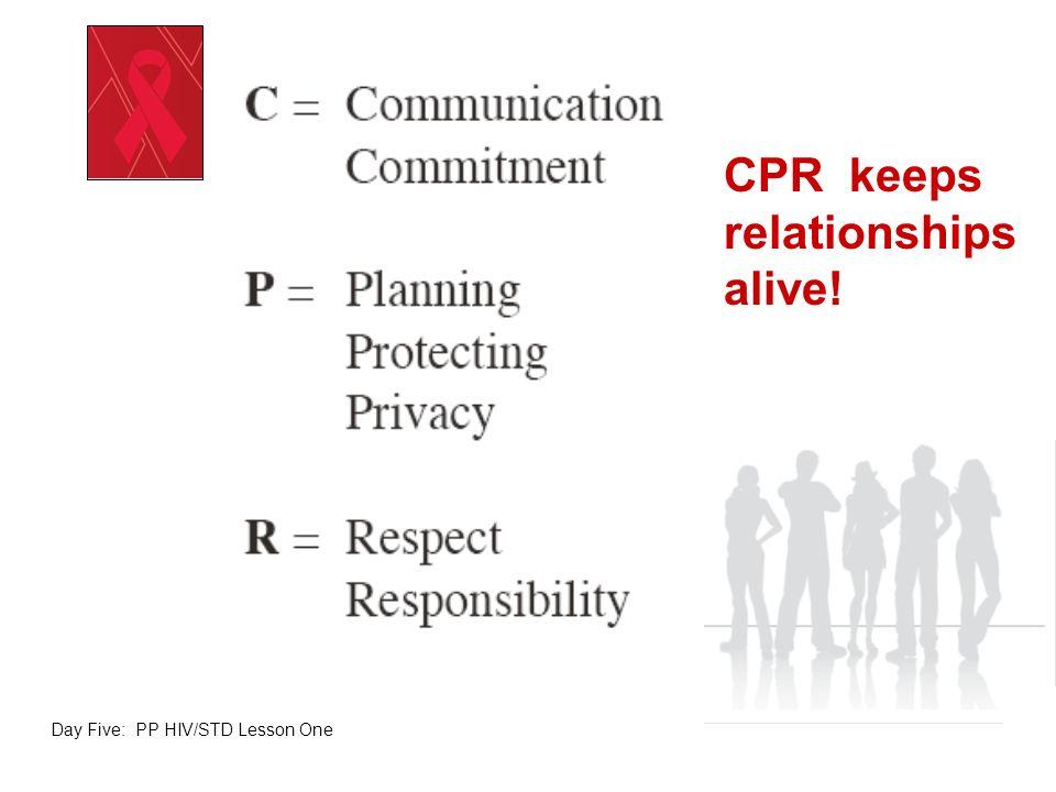 CPR keeps relationships alive!
