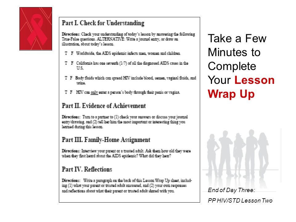 Take a Few Minutes to Complete Your Lesson Wrap Up