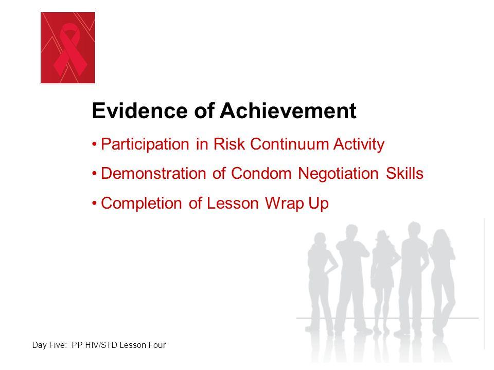 Evidence of Achievement