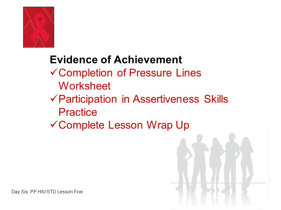 Evidence of Achievement Completion of Pressure Lines Worksheet