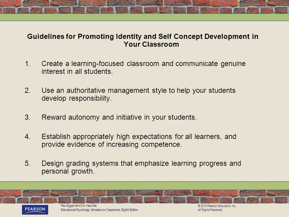 Guidelines for Promoting Identity and Self Concept Development in Your Classroom