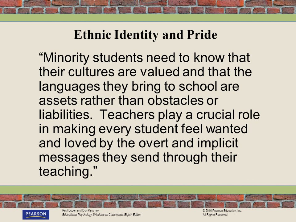 Ethnic Identity and Pride