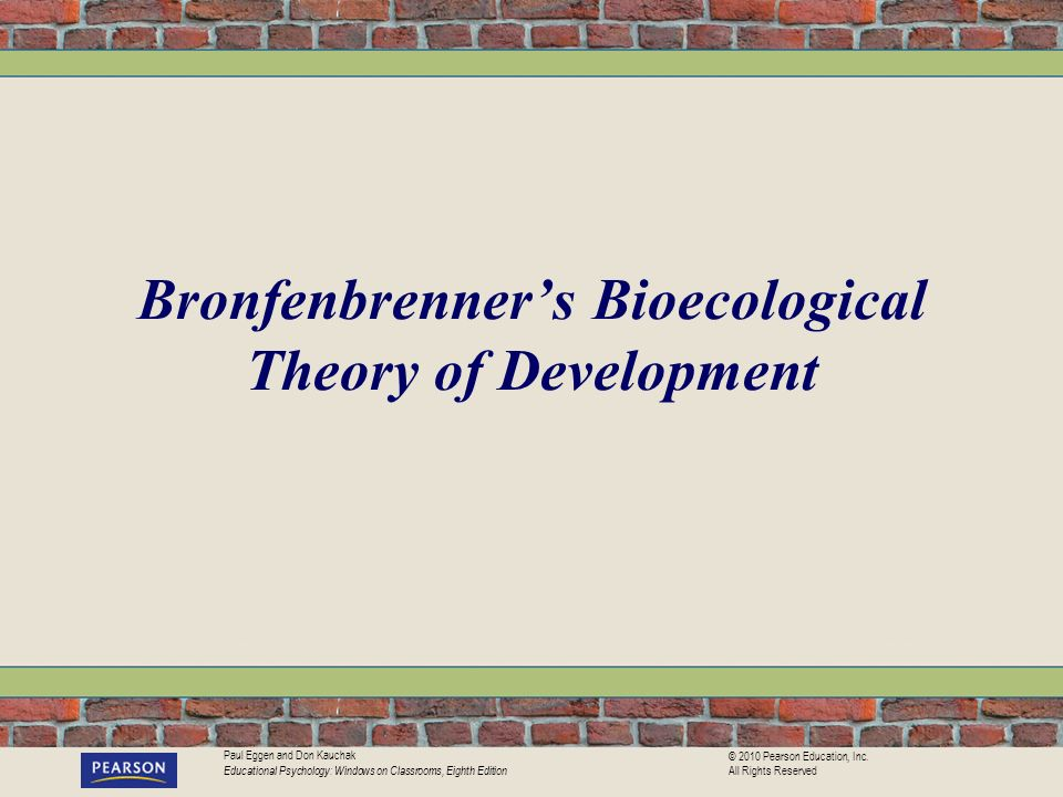Bronfenbrenner's Bioecological Theory of Development