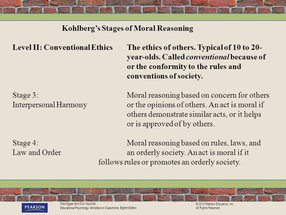Kohlberg's Stages of Moral Reasoning