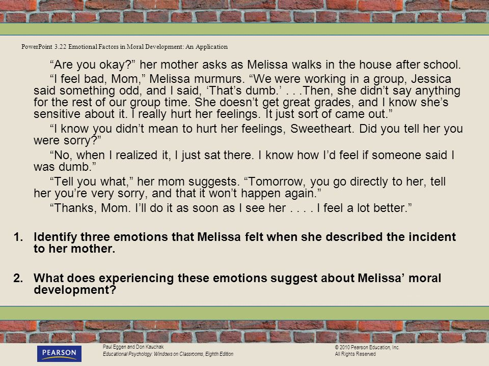 PowerPoint 3.22 Emotional Factors in Moral Development: An Application