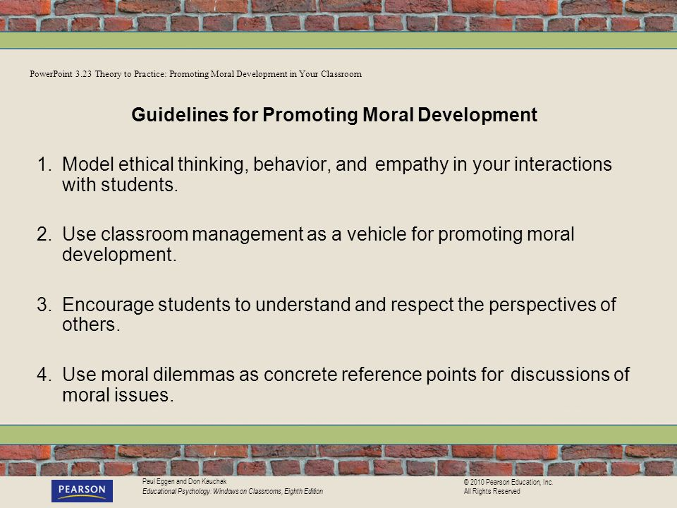 Guidelines for Promoting Moral Development