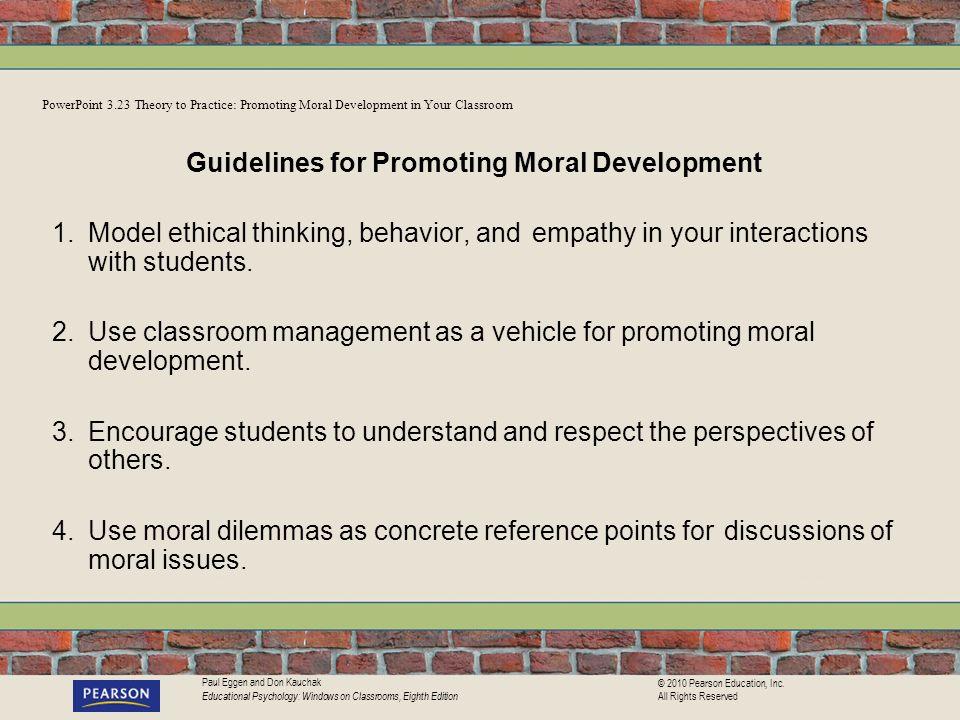 Guidelines for Promoting Moral Development
