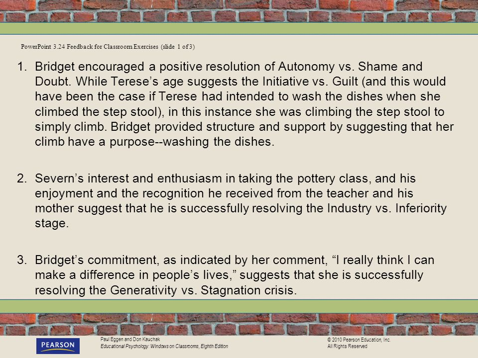 PowerPoint 3.24 Feedback for Classroom Exercises (slide 1 of 3)
