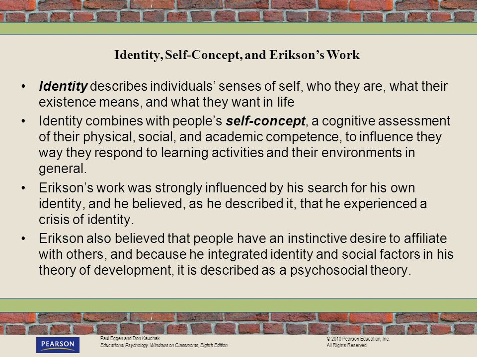 Identity, Self-Concept, and Erikson's Work