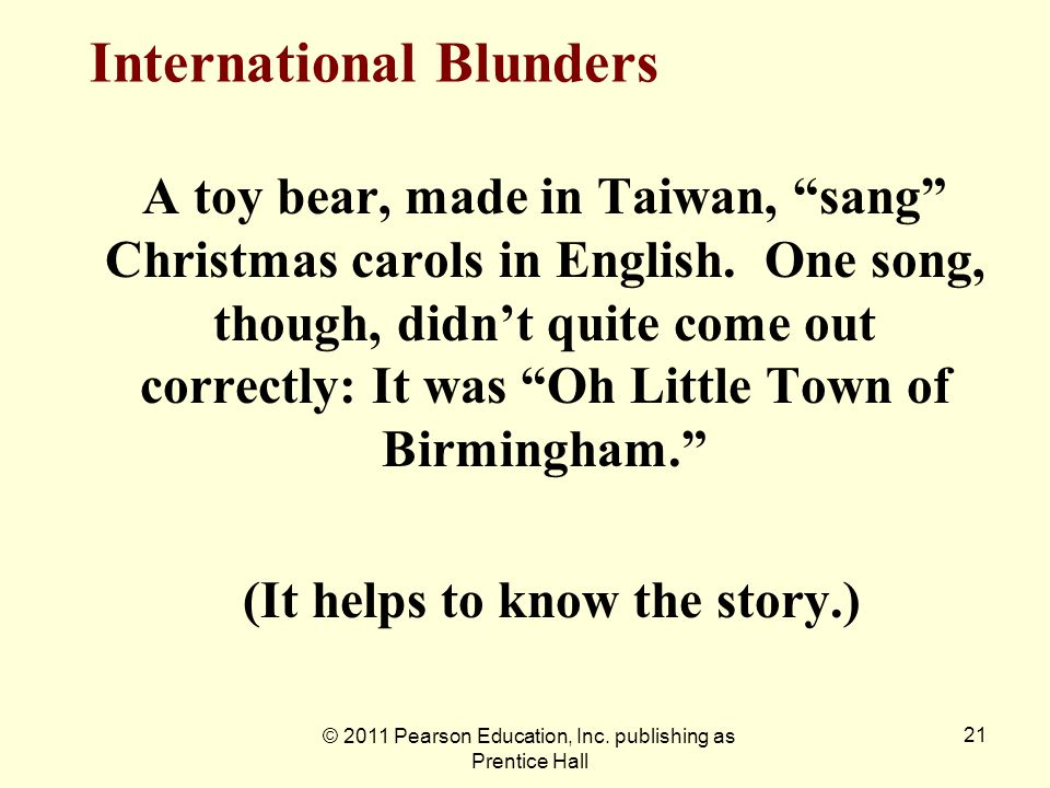 International Blunders