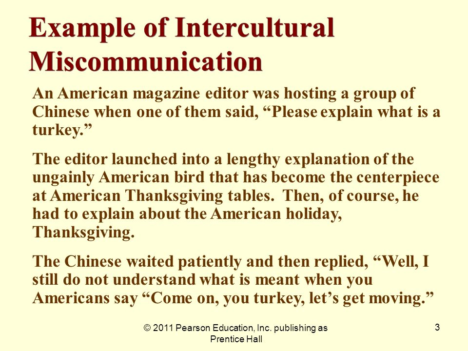 Example of Intercultural Miscommunication