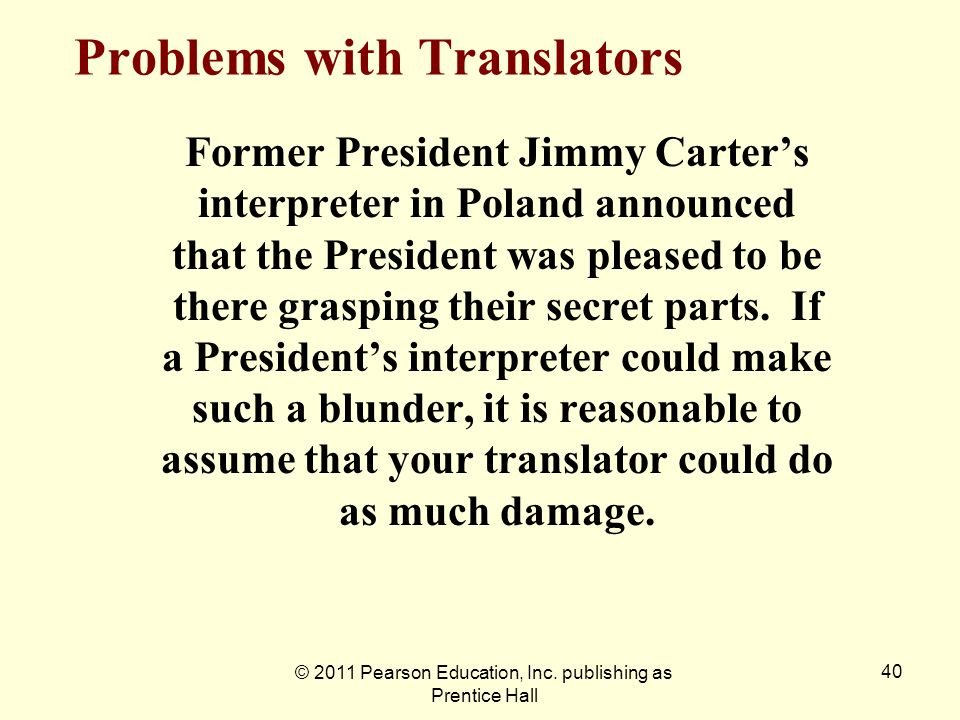 Problems with Translators