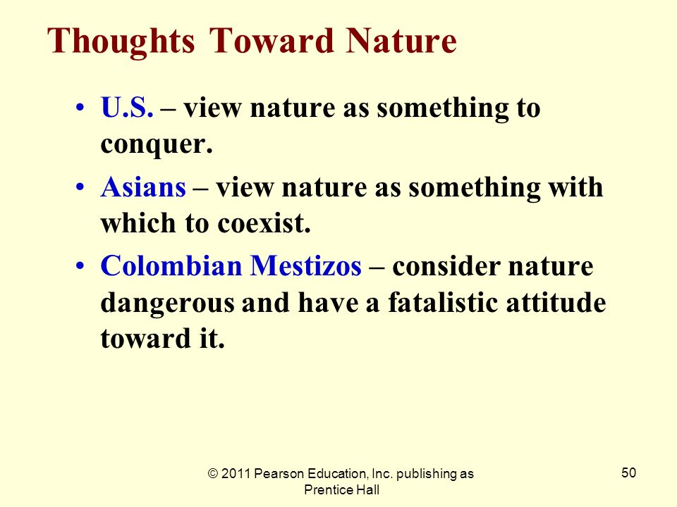 Thoughts Toward Nature