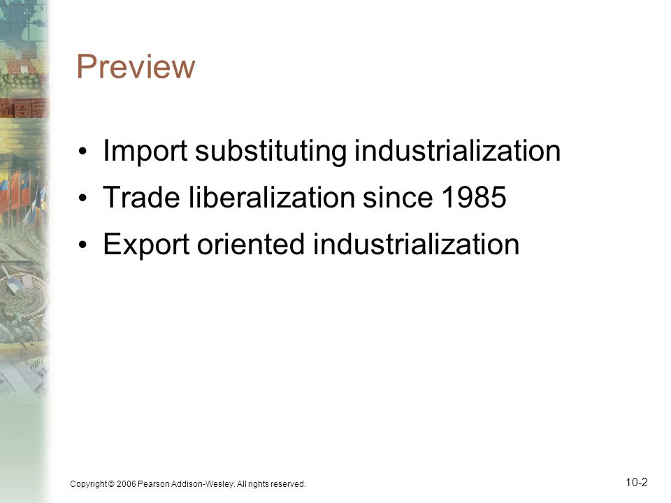 Preview Import substituting industrialization