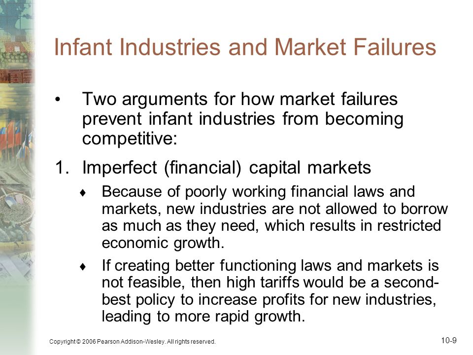 Infant Industries and Market Failures