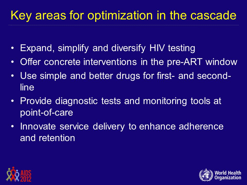 Key areas for optimization in the cascade