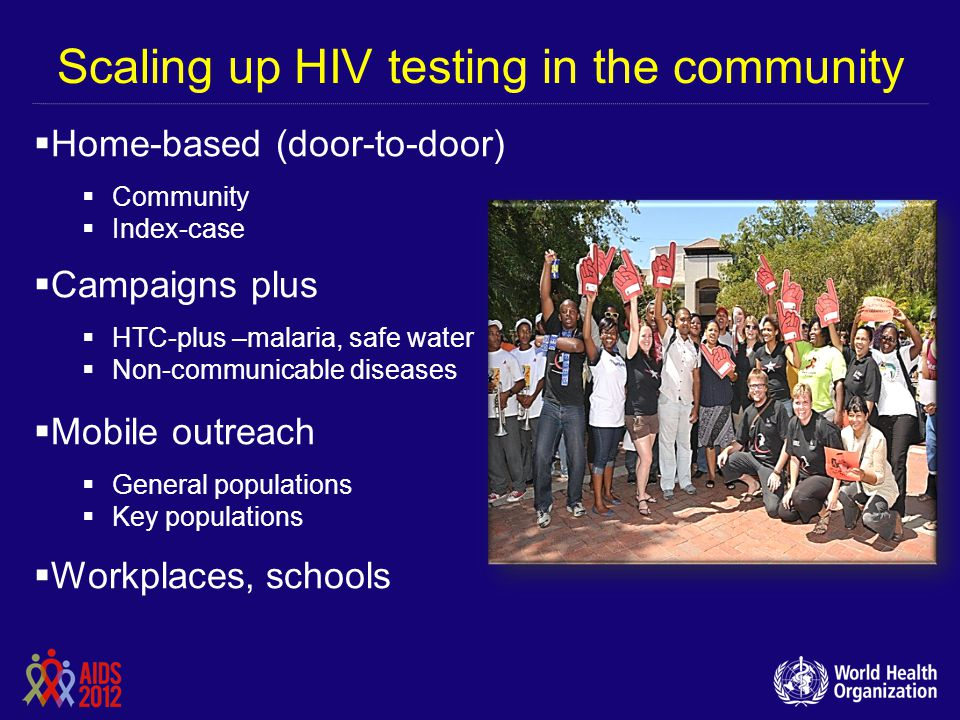 Scaling up HIV testing in the community