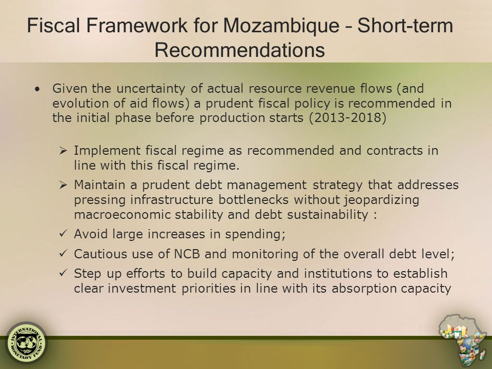 Fiscal Framework for Mozambique – Short-term Recommendations