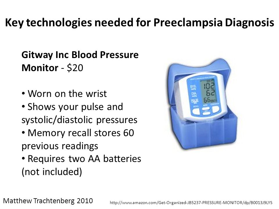 Key technologies needed for Preeclampsia Diagnosis