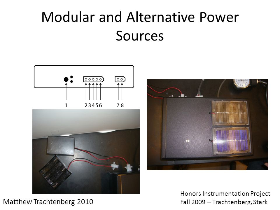 Modular and Alternative Power Sources