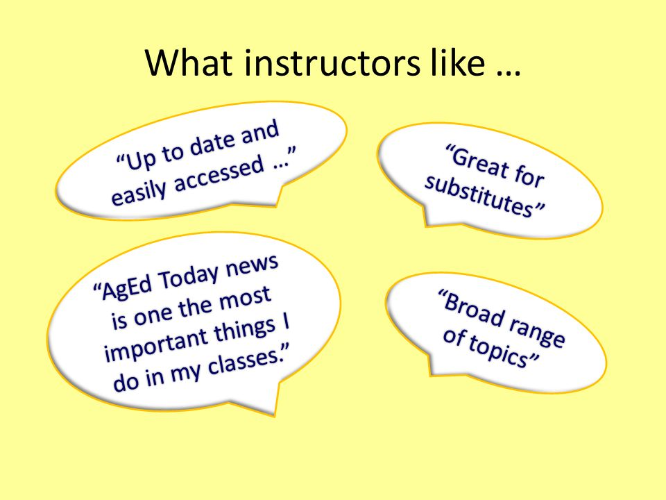 What instructors like …
