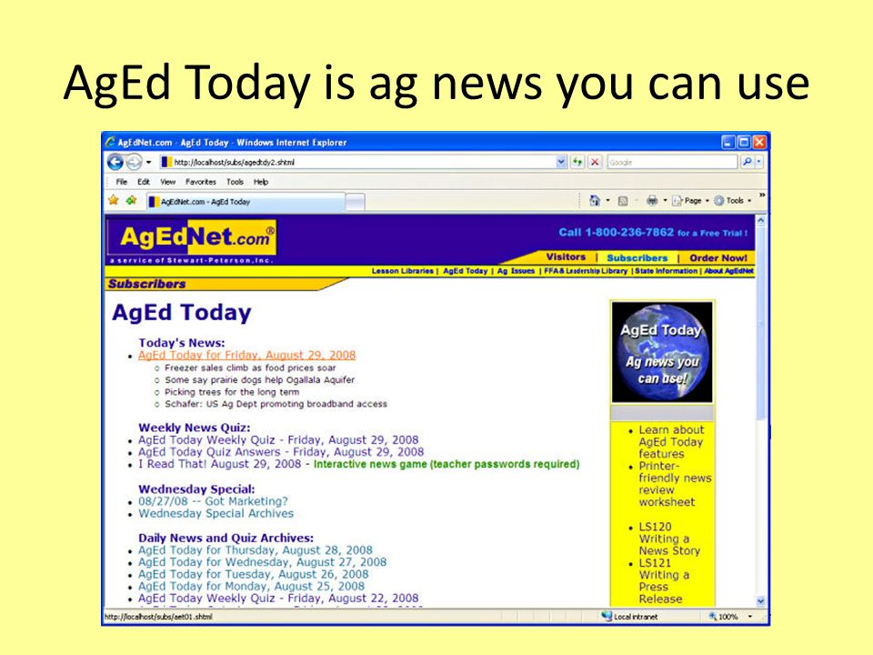 AgEd Today is ag news you can use