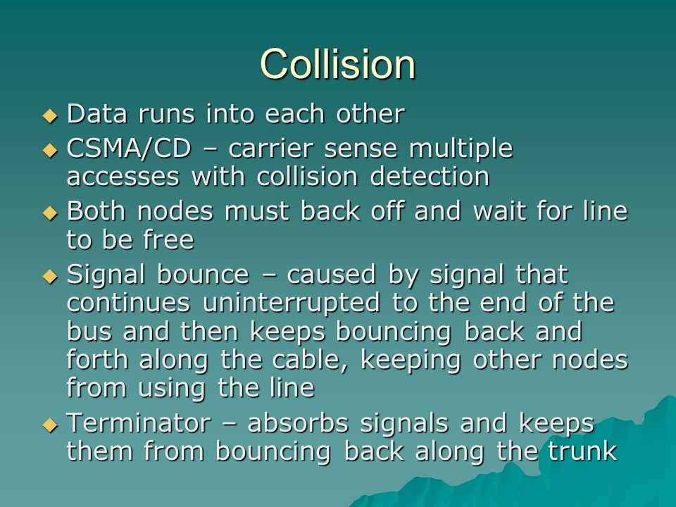 Collision Data runs into each other