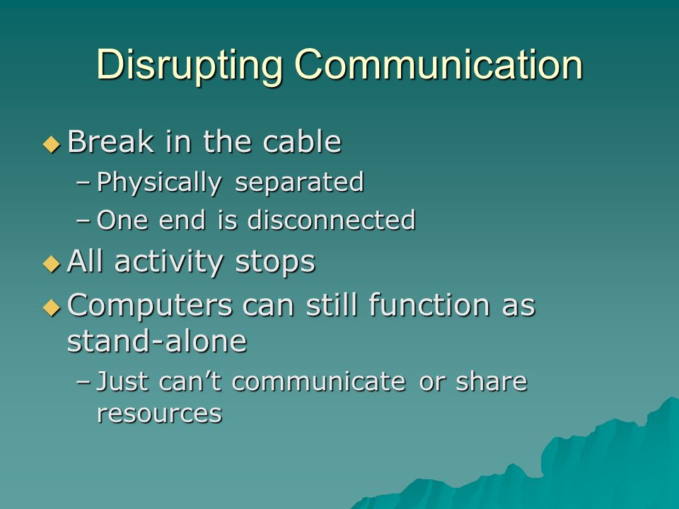 Disrupting Communication