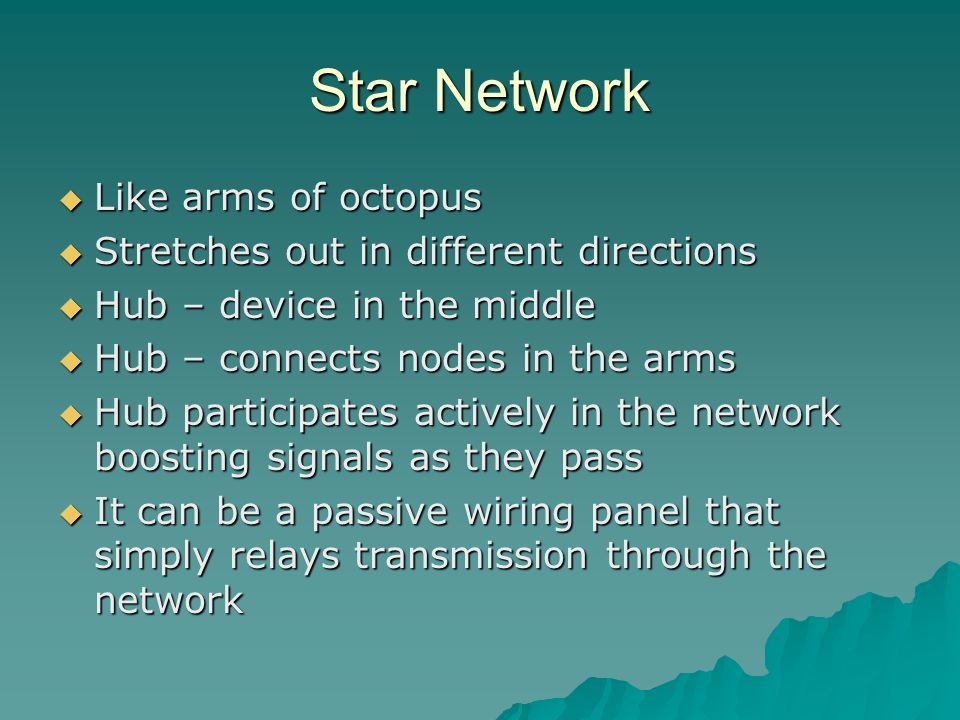 Star Network Like arms of octopus