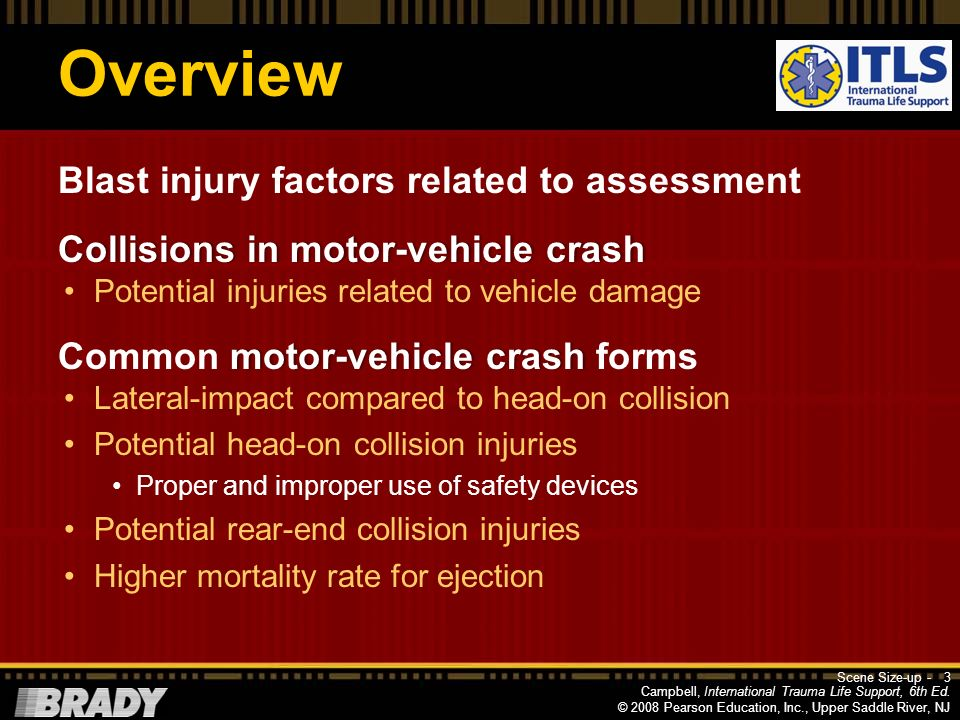 Overview Blast injury factors related to assessment