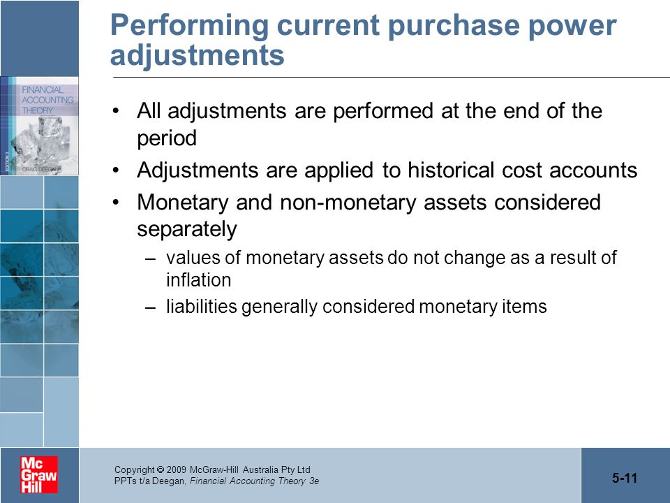 Performing current purchase power adjustments